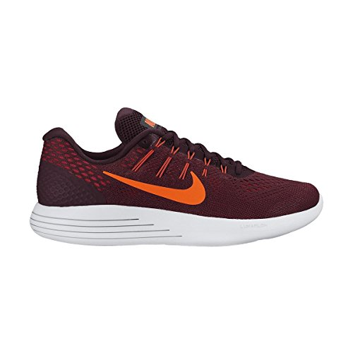 Nike Lunarglide 8, Chaussures de Running Compétition Homme Morado (Night Maroon / Total Crimson-Noble Red)
