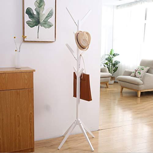 Coat rack Perchero madera Estante soporte 8 ganchos