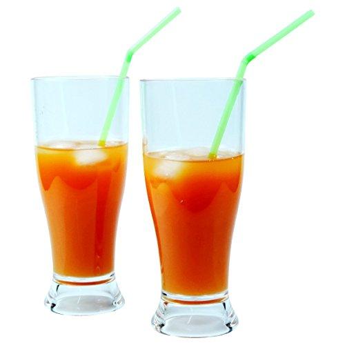 Viva Haushaltswaren – 2 x bruchfestes Bierglas ca. 350 ml, Longdrinkglas, Cocktailglas, Gläser Set aus hochwertigem Kunststoff (Polycarbonat), edle Gläser für Camping, Partys (wie echtes Glas) - 2