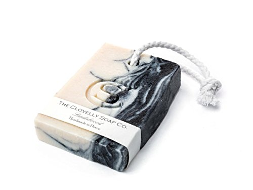 Clovelly Soap Co Natural Handmade Sandalwood Soap On A Rope Bar For All Skin Types 100g