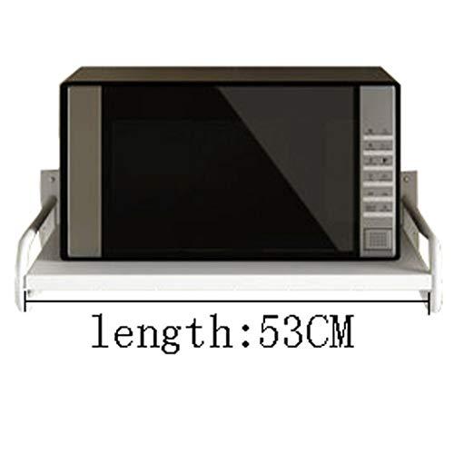 Küche Wand Mikrowelle Reiskocher Lagerung Ablage 2 Multifunktionshaushalt (Color : Metallic, Size : 60CM) -