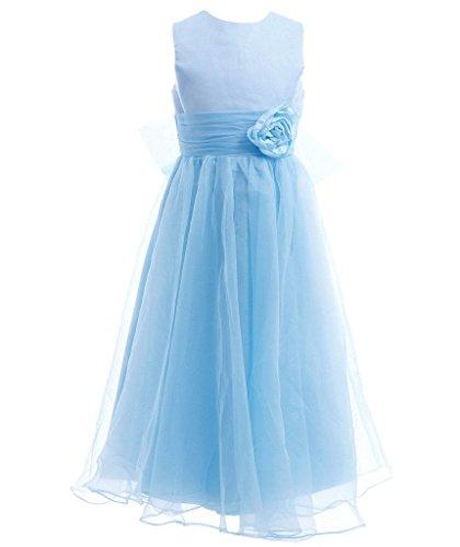 FAIRY COUPLE Mädchens A-Linie knöchellanges Party-Kleid ärmelloses Blumenmädchen Kleid für Junior-Brautjungfer Hochzeit K0125 12 (Baby Fairy Kleid)