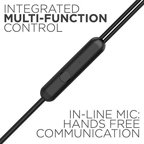 boAt BassHeads 102 Wired Earphones with Immersive Audio, Multi-Function Button, in-line Microphone & Perfect Length Tangle Free Cable (Charcoal Black) Image 4