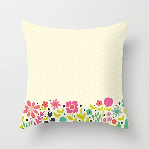 yinggouen-flower-with-dots-decorate-for-a-sofa-pillow-cover-cushion-45x45cm