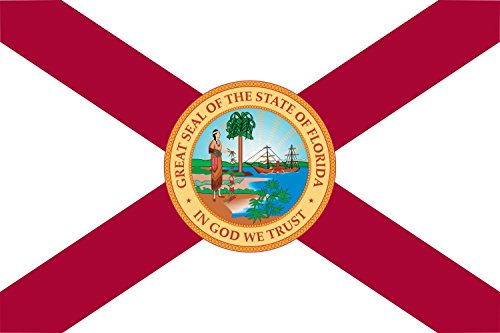 magFlags Flagge: Large Florida 1900?1985 | A Former Flag of The State of Florida with St Patrick s Saltire | Querformat Fahne | 1.35m² | 90x150cm » Fahne 100% Made in Germany