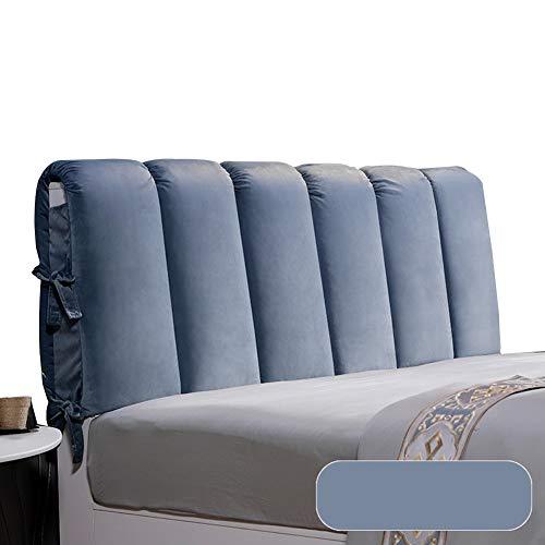 WENZHE Kopfteil Kissen Bett Rückenkissen Rückenlehne Waschbar Stoff Soft Case Zuhause Schlafzimmer Packen Sie Das Kopfteil Kissen, 6 Farben (Color : A, Size : 120x60cm)