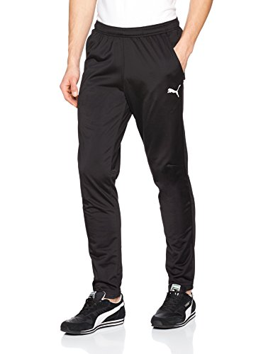 Puma Herren Liga Training Pants Core Trainingshose, Black White, XL