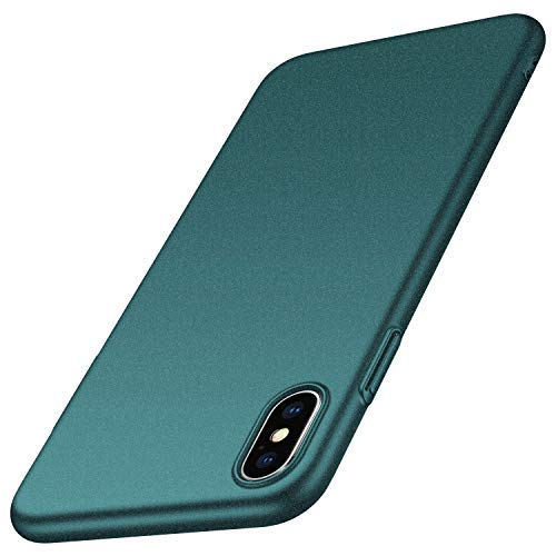 anccer iPhone XS Hülle, iPhone X Hülle [Serie Matte] Elastische Schockabsorption und Ultra Thin Design für Apple iPhone XS/X (Kies Grün)