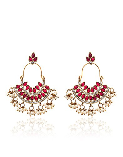 Zaveri Pearls Pearl Drop Earrings For Women (Multi-colour)(ZPFK1194)