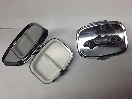 mazda-mx-5-miata-lhd-ref122-pewter-effect-car-emblem-on-travel-silver-rectangular-metal-pill-box