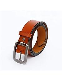 Durable Cinturón de Cuero para Hombre Cinturón Negro Reversible con Hebilla  girada Uso Diario Accesorios de Vestir Vestido de cinturón (Color… 22246d8ea168