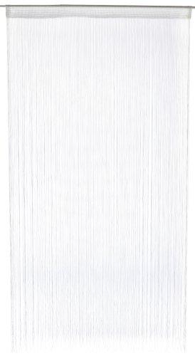 1001 Wohntraum F21 Fadenstore, 100 x 200 cm, Fadengardine, Fadenvorhang, Raumteiler, Gardinen, weiß