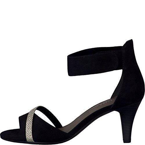 Tamaris Damen sandalo glam 1-28305-034 nero schwarz