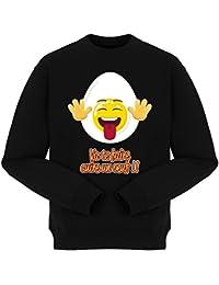Pull Humoristique - Collection Humour et Fun par okiWoki - Va te faire cuire un oeuf !! - Pull Noir - Haute Qualité (877)