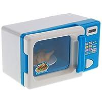 B Blesiya Mini Blue Microwave Oven Pretend Play Toy