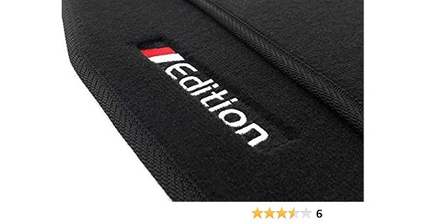 Kh Teile Fußmatten Passend Für A4 B6 B7 8e Premium Qualität Velours Automatten Schwarz 2 Teilig Bestickt Mit Edition Auto