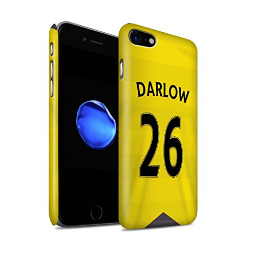 Officiel Newcastle United FC Coque / Clipser Matte Etui pour Apple iPhone 7 / Sissoko Design / NUFC Maillot Domicile 15/16 Collection Darlow