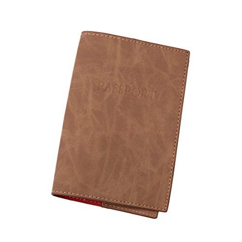 EPA0202 Tan Red Possport Reisetasche Fashion Kunstleder Geburtstag Passport Cover von Epoint