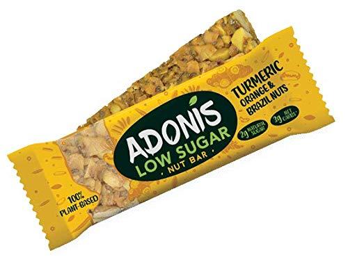 Adonis Low Sugar Kurkuma Snack Nuss Riegel   100% Natural, Low Carb, Glutenfrei, Vegan, Keto, Paleo (16)