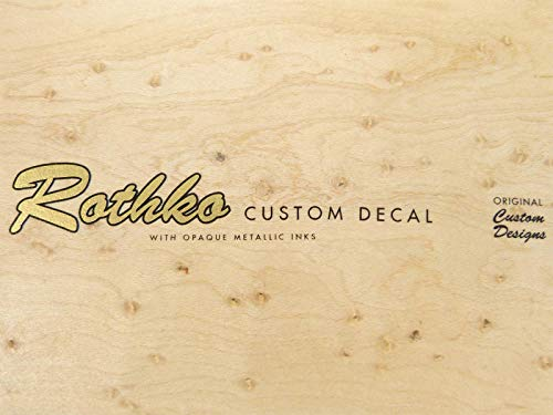 Custom Guitar testa Waterslide Decal-54Style, oro & nero