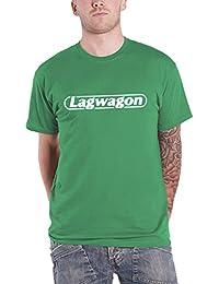 Lagwagon T Shirt Putting Music in its Place Logo offiziell Herren Nue Grün