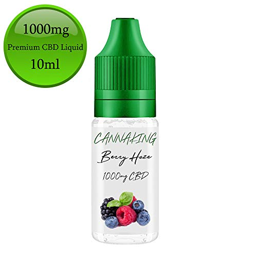 CBD Premium Liquid von Canna King 500mg 300mg 200mg 100mg 50mg Nikotionfrei (BerryHaze, 1000mg) -