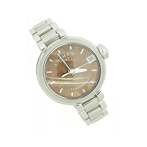 Montre Locman Femme 035000bnnnk4au quartz (Batterie) acier Quandrante Marron Bracelet Acier