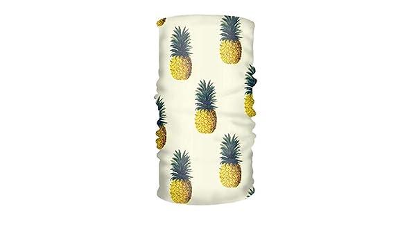 Vidmkeo Ananas Multifunzionale Frutta Copricapo Scudo Collo Sciarpa con Collo Sciarpa Fascia per Capelli Fashion3