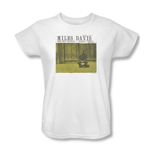Concord Music - Frauen-Miles And Milt T-Shirt, Large, White