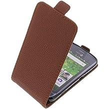 Funda para Doro Liberto 820 Mini protectora tipo flip para móvil marrón