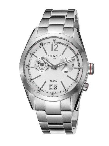 Kienzle K3071011042-00084 - Reloj analógico de Cuarzo para Hombre con Correa de Acero Inoxidable, Color Blanco