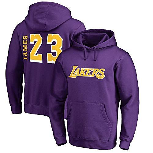 HuWai-Outdoor Hoodie NBA Los Angeles Lakers Lebron Raymone James Herren Jugend Basketball Enthusiasten Top Bequeme Tops Gelb S-3XL, M
