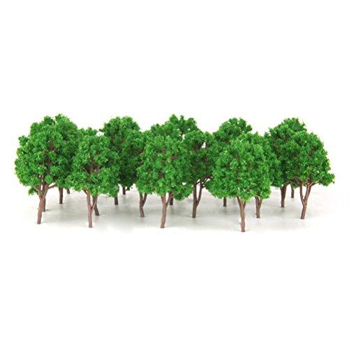 LUOEM 1: 150 Modellbäume Zug Eisenbahn Landschaft
