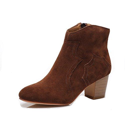 XTIAN , Bottes et bottines cowboy femme marron foncé