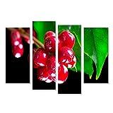 islandburner Bild Bilder auf Leinwand Kaffeepflanze. Rote Kaffeebohnen auf Einer Niederlassung des Kaffeebaums Wandbild, Poster, Leinwandbild JNA
