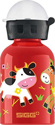 Sigg Kinder Trinkflasche New Farmyard Family, Rot/Bunt, 300 ml, 8504.8