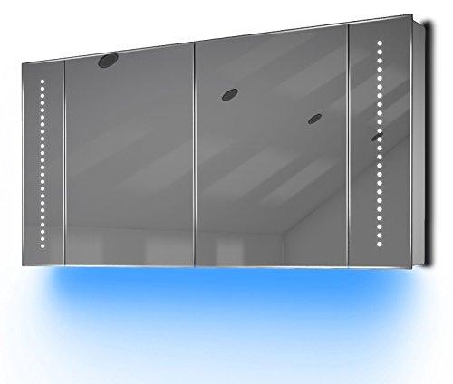 Badezimmerspiegelschrank mit Raumbeleuchtung, 120 cm