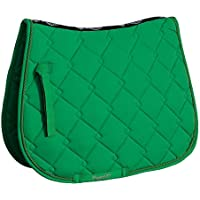 Rhinegold Elite Diamond Saddle Pad-COB-Green Tela para sillín, Verde
