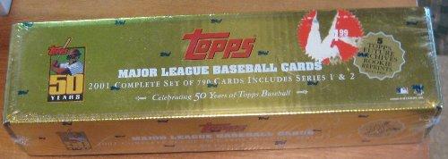 Topps Major League Baseball Cards 2001 Complete Set (Celebrating 50 years of Topps Baseball)