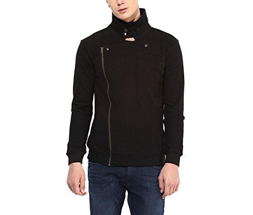 Hypernation Black Color Jackets for Men