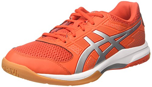 Asics Herren Gel-Rocket 8 Multisport Indoor Schuhe, Rot (Cherry Tomato/silver/fiery Red 0693), 46.5 EU (11 UK) - Asics Track Schuhe