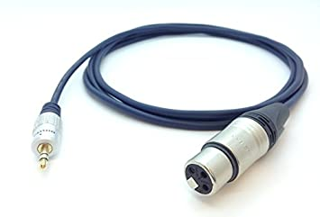 Neutrik Mini TRS Stereo 3 5mm Jack to Female XLR Cable PC Laptop to Mic  Mixer (1m)