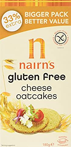 Nairns Gluten Free Cheese Oatcakes 180 g (Pack of