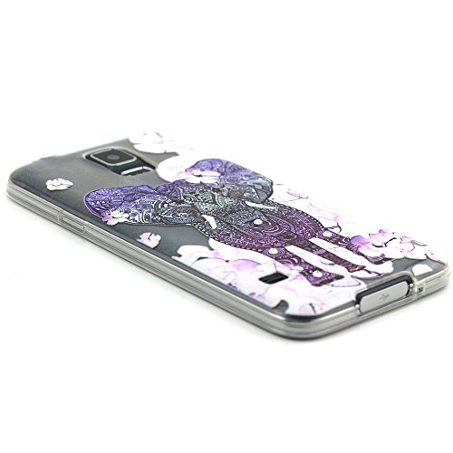 Skitic Weich TPU Relief Glitzer Crystal Case Hülle für Apple iPhone 5 / 5S / SE, Ultra Dünn Cute Handy Cover Fit Gel Rubber Skin Silikon Durchsichtig klar Schutzhülle Case Bling Diamant Sparkle Transp Stil 6