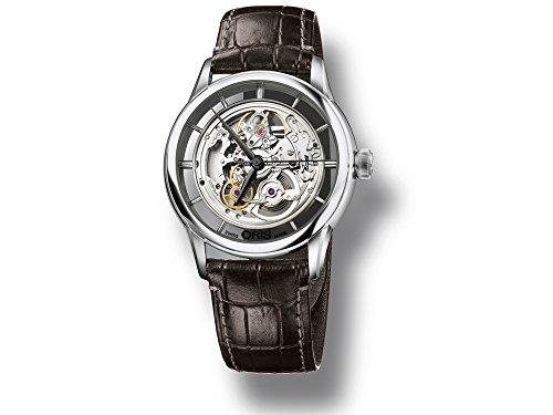 Oris Artelier Translucent Skeleton Uhr, Oris 734, Lederband, 734 7684 4051