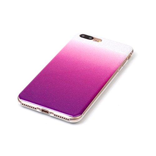 Wkae Case Cover Gradient motif de couleur souple en silicone TPU étui de protection arrière pour IPhone 7 Plus ( Color : K , Size : IPhone 7 Plus ) H