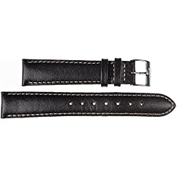 24 mm Imperial Watch Leather Band Wrist Watch Black Leather Watch strap 24 mm Closing? E: Wei?