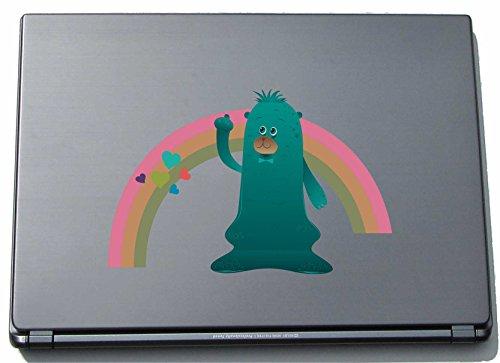 Preisvergleich Produktbild Laptopaufkleber Laptopskin clm017 - Lustige kleine Monster - Qualle mit Regenbogen - 150 mm Aufkleber