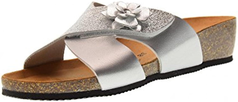 Valleverde Schuhe Frau Hausschuhe G51299F Silber