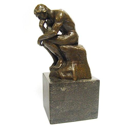Kunst Repro Bronze THE THINKER Bronzestatue Mann der Denker Sammlerobjekt Skulptur Bildniss Kunst Nachbildung